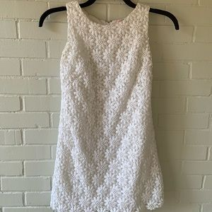 Lily Pulitzer White Floral Lace Halter Dress